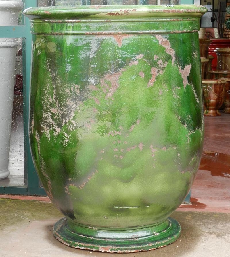 Poterie d 39 anduze le ch ne vert jarre olives olivette for Jarres terre cuite jardin