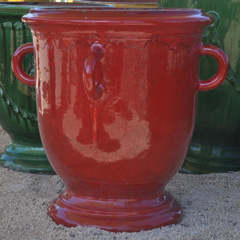 Poterie d 39 anduze le ch ne vert vase languedoc quatre anses - Le mas des pots rouges ...